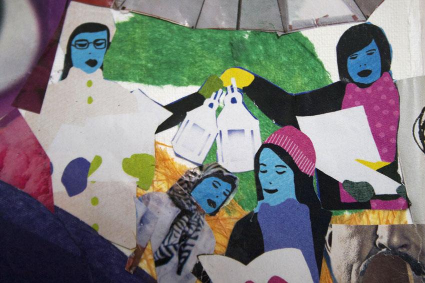 Parwana's collage detail 4